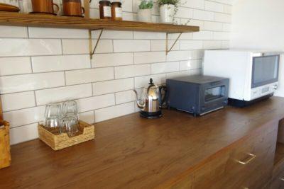 WEB内覧会キッチン編②背面収納とタイルでカフェ風!後悔しないアイランド