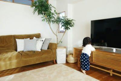 ジャングルジムが真っ白なシンプルな子供部屋。1歳4ヶ月の遊び方