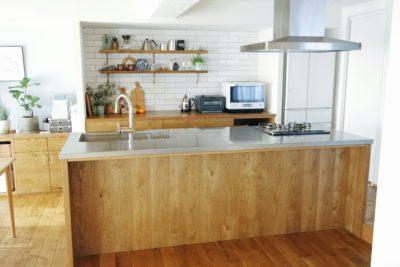 リノベーションでアイランドキッチンのおしゃれインテリアを実現。