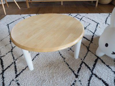 Kidzoo(キッズー)の子供用リビングテーブルを購入!折り畳み式&円形でおしゃれ
